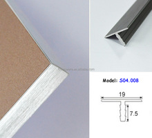 Aluminum T Edge Profile 19mm outer centre alibaba China
