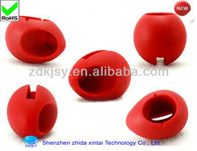 red egg shape silicone music mini cell phone speaker