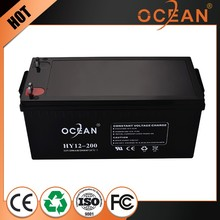 CE&MSDF approve 5 years maintenance 12v 200ah value regulated lead acid battery solar ups deep cycle gel bateria 12v 200ah