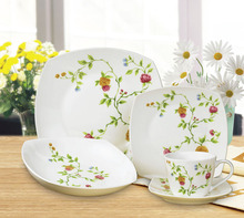 square shape bone china dinnerware/porcelain dinner set