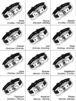 Wholesale wristband cheapest silicone rubber bracelets zodiac silicon bracelet from china