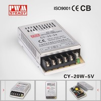 High Quality Constant Voltage CY Switching Power Supply 20W 5V 4A mini size smps with CE certification / ac dc power adapter