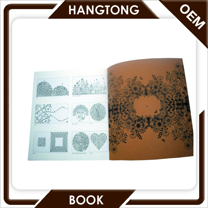 Professional coloring book/magazine/catalogue/brochure printing service in guangzhou