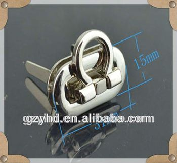 2013 fashion hign quality gunmetal lock for handbag/leather bag