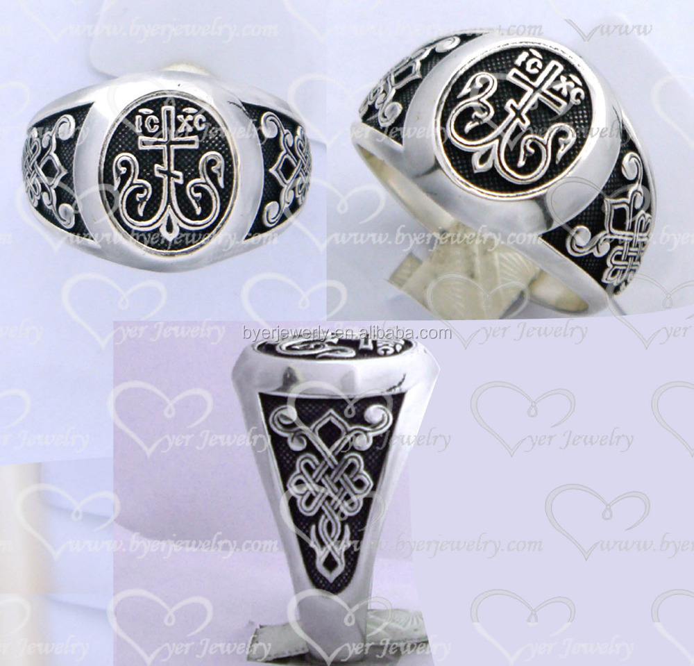 2016 cheap wholesale flower signet finger silver man ring