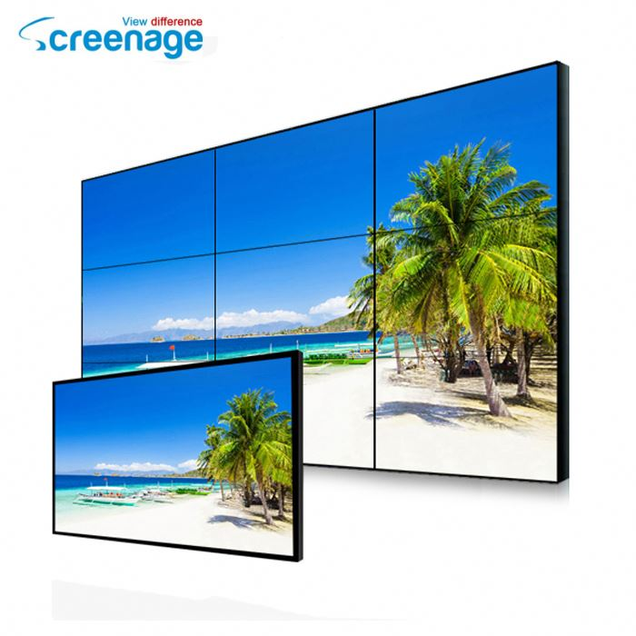 "46"" 47"" 48"" 55"" Video Wall LCD Panel Advertising Screen Examples"