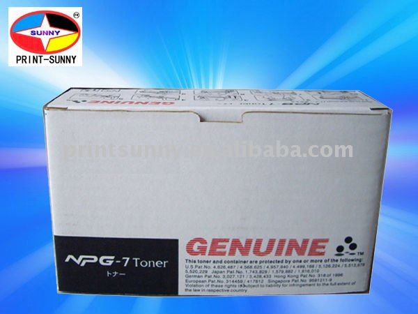 toners and cartridges for Canon Copier NP6022/6030/6031/6330, NPG-7 toner