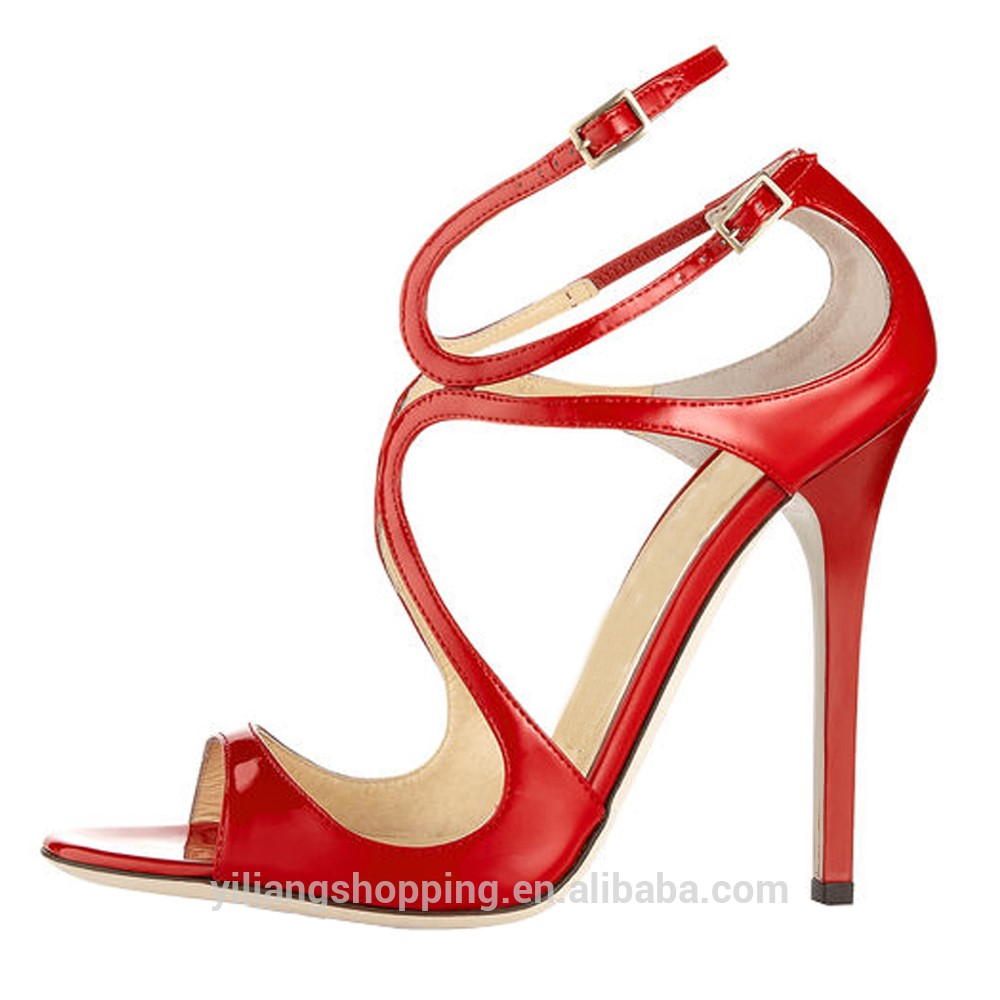women shoes 2017 sandal shoes 3 cross strap 12 cm high heels