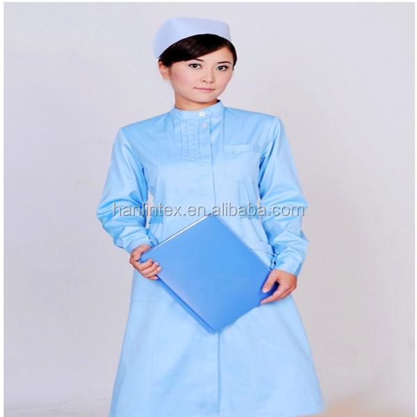 T/C white/plain dyed nurse uniform fabric