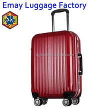 Customized ABS PC luggage Aluminum trolley TSA lock Travel luggage bags