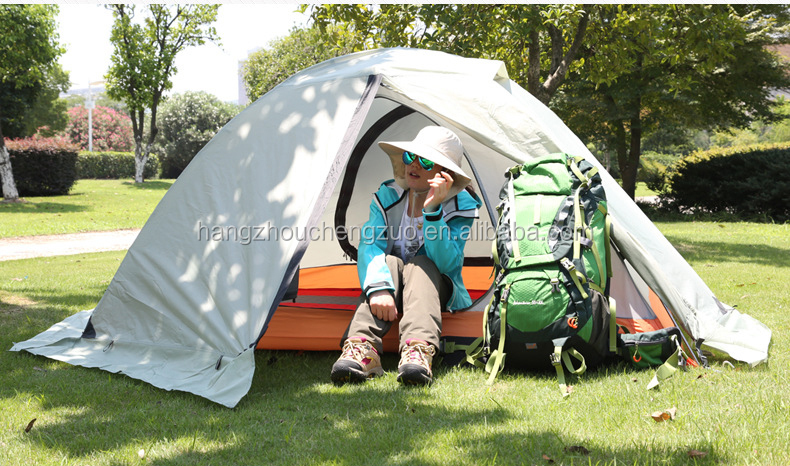 High-end Foldable Aluminum Pole Double Layer 1-2 Person Waterproof Winter Warmth Camping Tent, CZX-040 Snow Skirt Tent