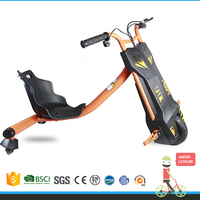 EN71 Certification Factory sale electric mini drift trike electric kids tricycle 100W drift flashing bike for childen