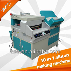CE 10 in 1 multifunction album and photo book making machine from jiangmen