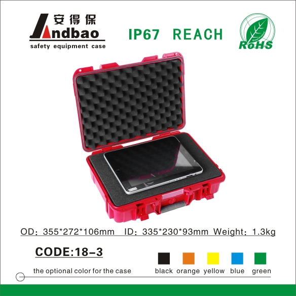 Sturdy ABS plastic equipment case for electronic