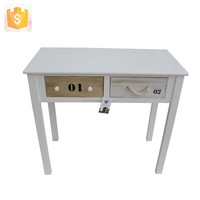 Modern Solid Wood Children Writing Table/Kids Wooden Furniture of Table With Two Drawers