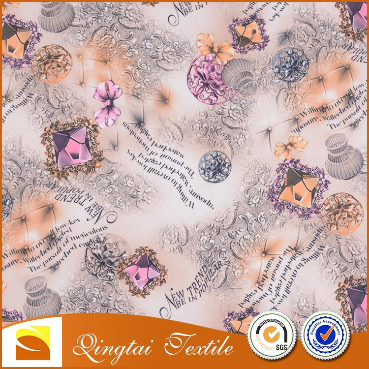 fashion design Custom elegant breathable water resistant polyester fabric