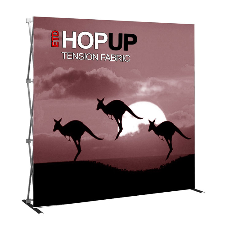 Customized high quality fabric pop up display wall for trade <strong>show</strong>