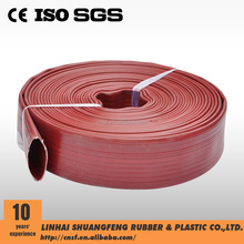 Red Heavy Duty Nitrile Rubber Covered Fire Hose/PVC layflat hose/pvc flexible hose