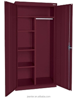 China Factory Popular Cheap Metal Colorful KD Structure Modern Steel Locker Closet /Wardrobe Storage Solution