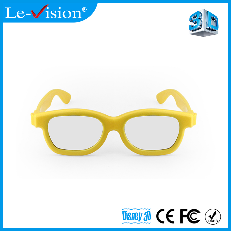 Polarizing film lens Kids 3D Video Watching Circular Passive 3D Glasses for 3D 4D 5D 7D 9D Theater Equipment
