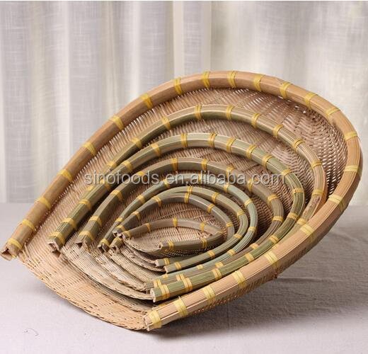 Bamboo Utility Weaving Decoration Basket Fruit and Vegetable Round bamboo basket