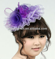 MYLOVE purple flower hat felt fabric fedora hat MLXM009