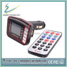 instruction car mp3 player fm transmitter with CE certificate with SD card support