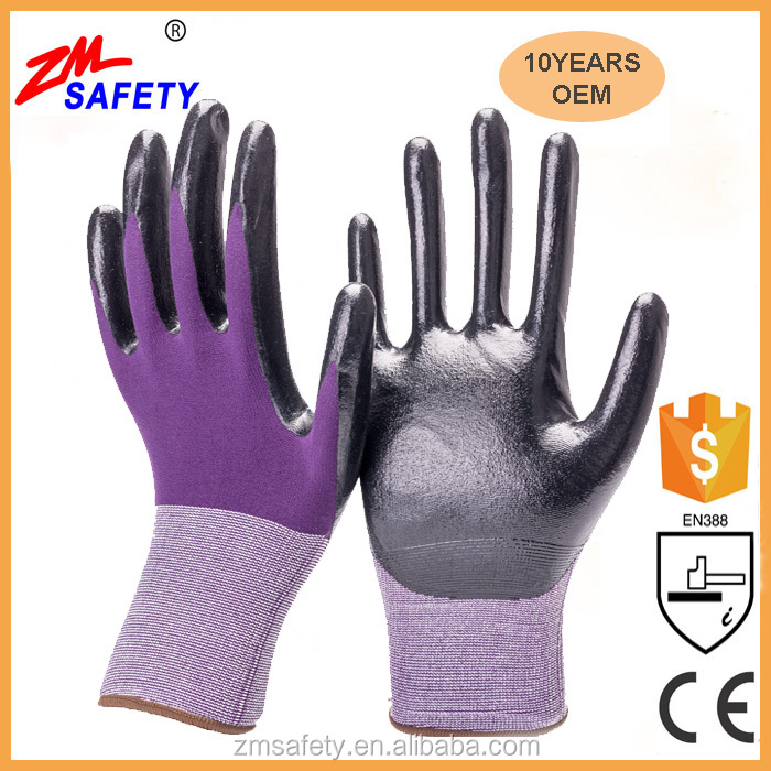18 G Oil Resistant Mechanic and Black Nitrile Gloves