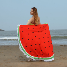 Spot goods new style for European and American round superfine fiber sandy beach towel
