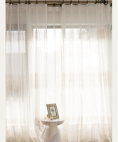 embroidery voile curtain wholesale ready made organza curtain polyester sheer bedroom living room curtain