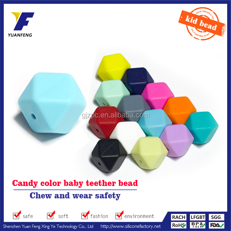 food grade baby teething bead wholesale jewelery silicone loose beads