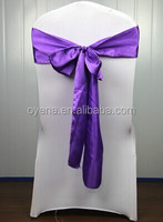 purple chair cover sash
