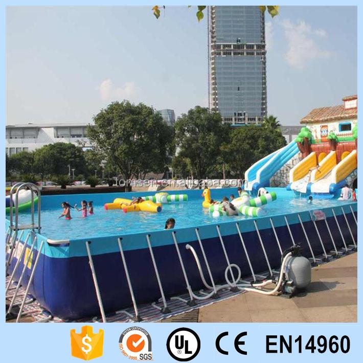 Outdoor Rectangular Metal Frame Swimming Pool For Sale Buy Rectangular Metal Frame Pool Pvc