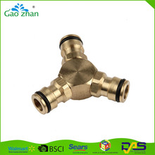 Discount 3 way hose coupling/pipe fitting/tap connector