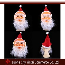 Funny Super soft The Santa Claus Mask Wig Beard Costume Christmas Party Father Christmas Old Man Masquerade Mask