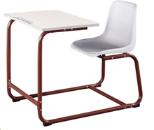 Commercial Furniture General Use and Plastic Material desk and chair set for school