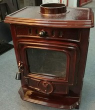 Enamel wood stove type cast iron wood burning stove WM701A-E