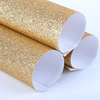 Advanced Taiwan Machines high shinning 80gsm glitter wrapping paper
