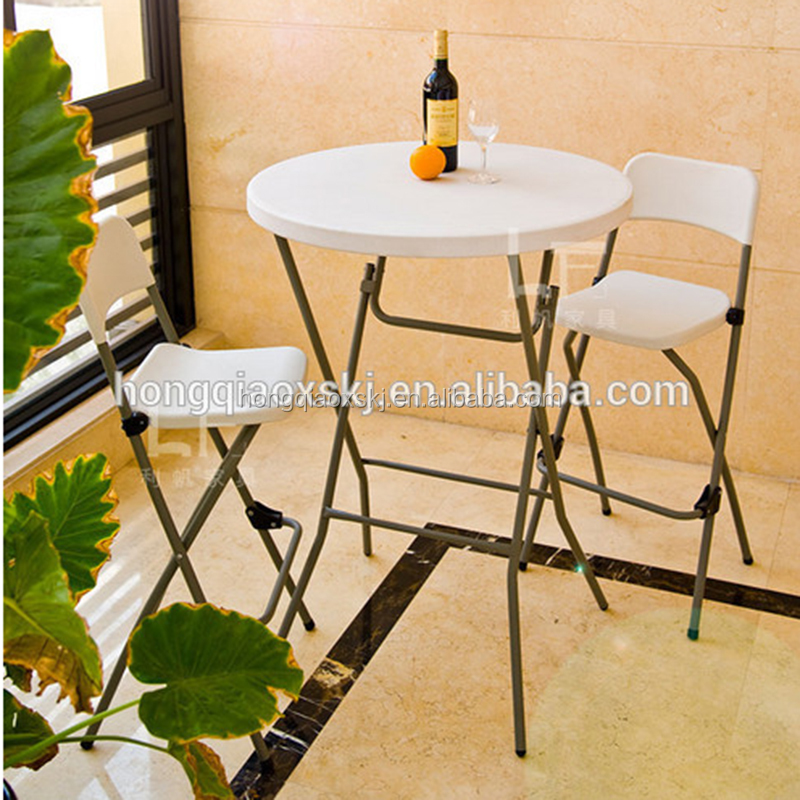 2.6ft 80cm outdoor cafe and bar high table from Taizhou