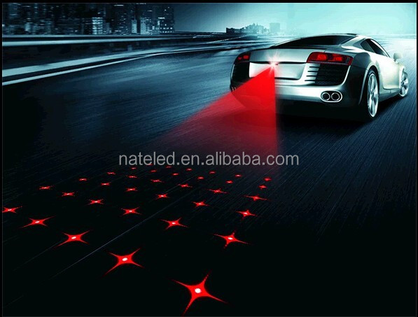 Laser lights for cars and motorcycle safe auto rear anti fog avoid accident car laser fog light
