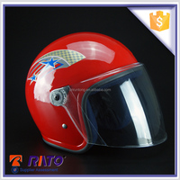 Custom red scooter branded full face helmets