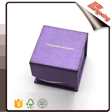 2016 Wholesale custom logo print stocked jewelry ring boxes