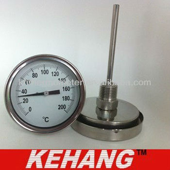 High quality industrial bimetal thermometer temperature gauge