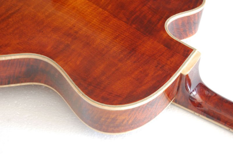 yunzhi archtop fully handmade solid wood jazz guitar