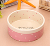 Haonai 5.8inch ceramic round bowl ceramic dog bowl travel dog bowl