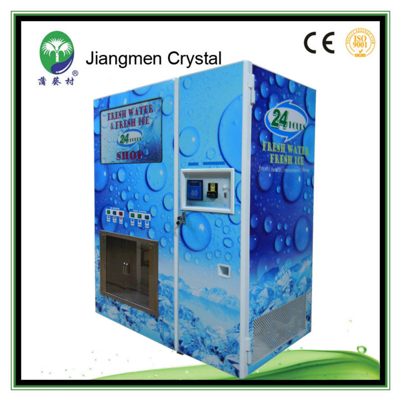 ice and water vending machines for sale with note receiver, and give change