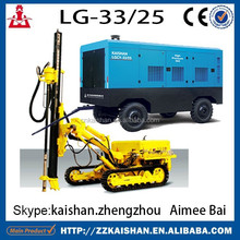 LGCY33-25 diesel screw mining air compressor for KW30 water well drill rig