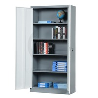 KD metal office furniture used 2 door steel locker cabinet
