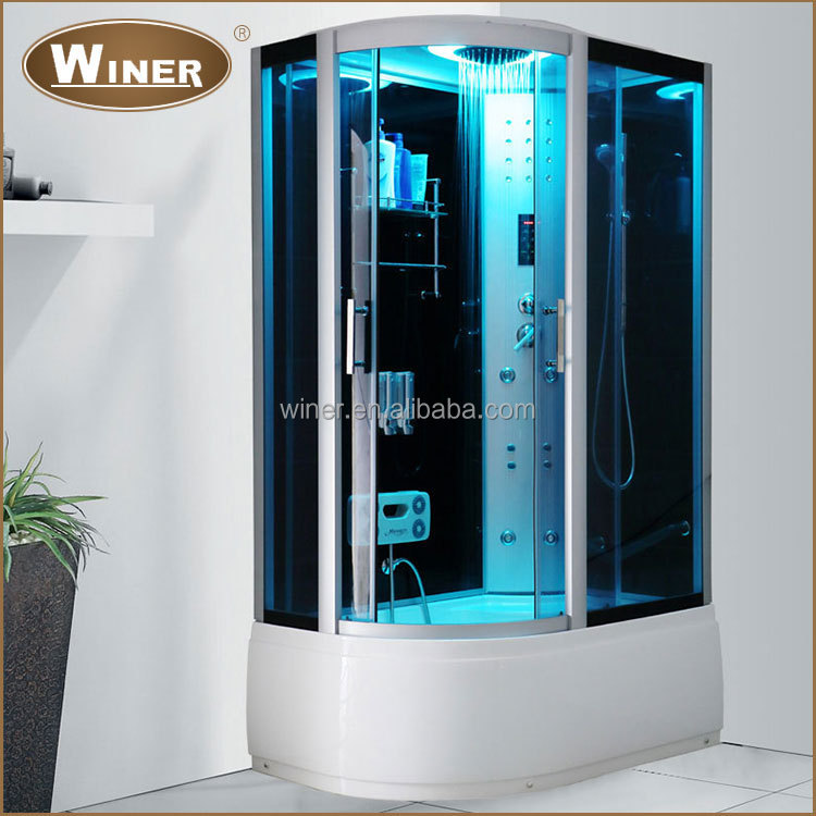 2016 Home massage acrylic tempered glass indoor shower personal steam room price for sale