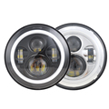 7 inch led headlight high low beam round motorcycle 45w manufacturer led headlight with halo angel eye